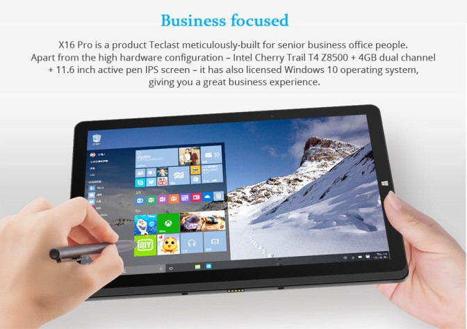 Windows 10 & Android 5.1 Teclast X16 PRO 64GB 11.6 Touch Screen Tablet